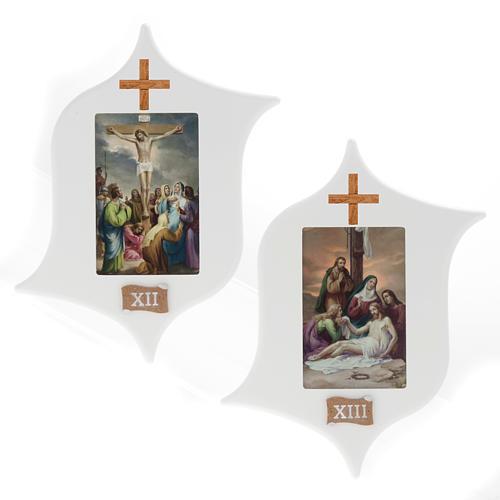 Via Crucis 15 stazioni: tavole legno a stella laccate 9