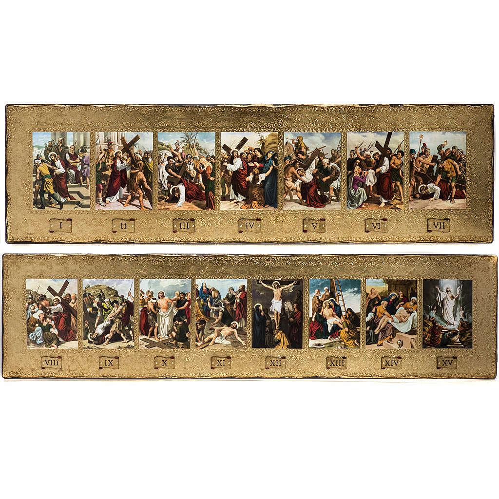 Vía Crucis 15 estaciones en bordes decorados 4