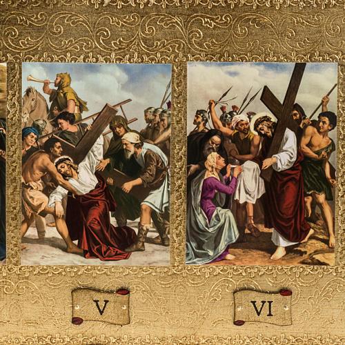 Vía Crucis 15 estaciones en bordes decorados 2
