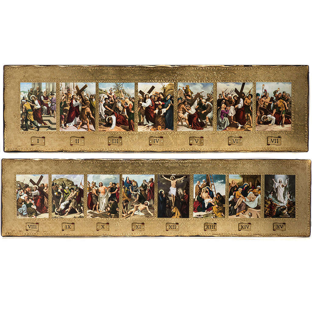 Via Crucis 15 stazioni in 2 tavole legno 4