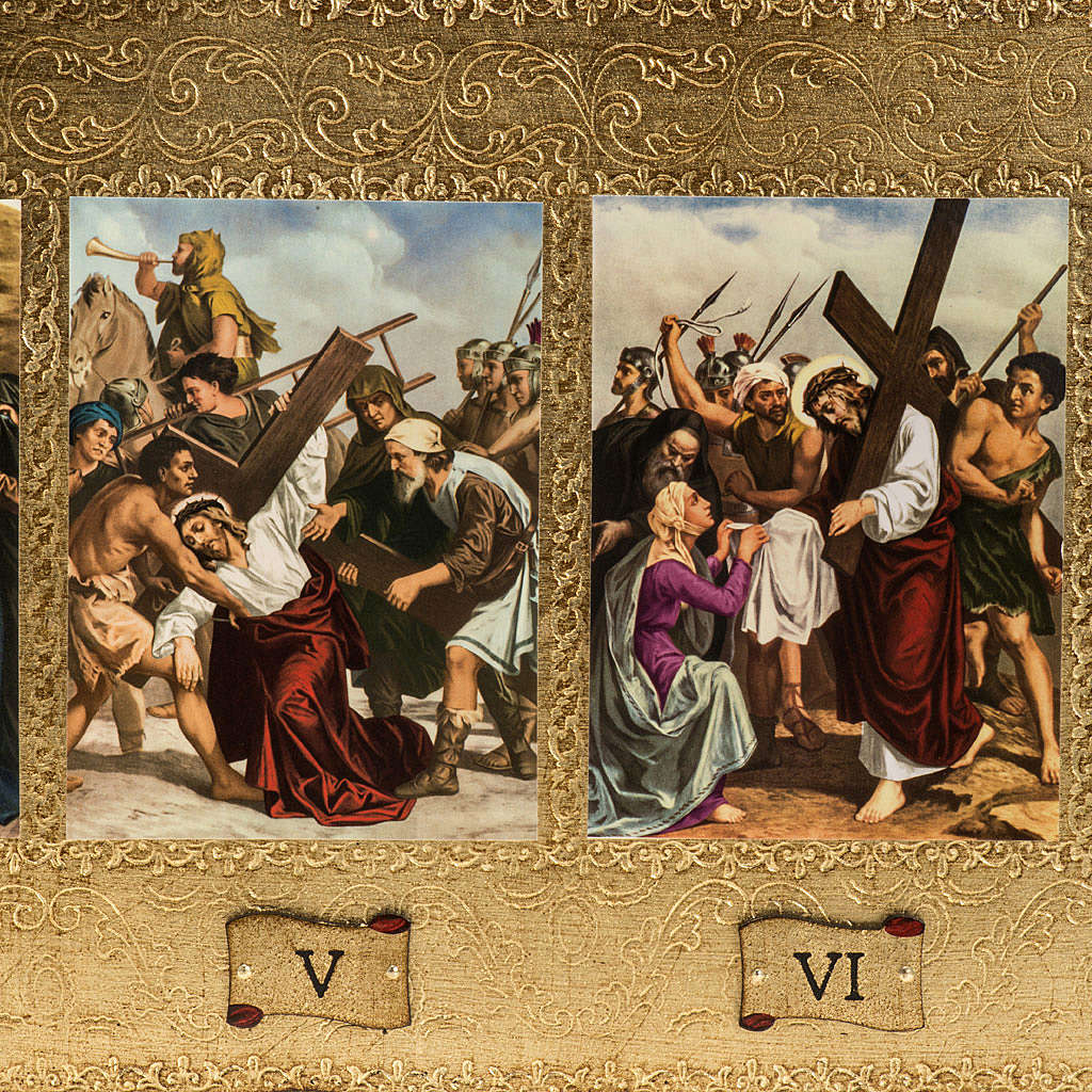15 Stations of the Cross on 2 wooden boards 4