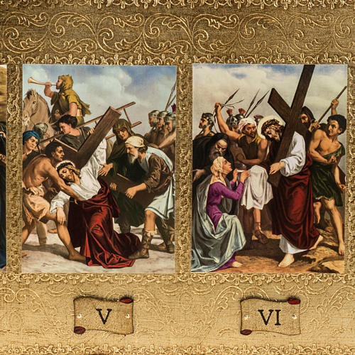 15 Stations of the Cross on 2 wooden boards 2