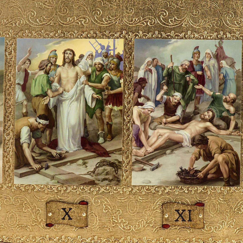 Vía Crucis 14 estaciones en 2 tablas madera 4
