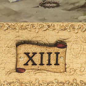 Vía Crucis 14 estaciones en 2 tablas madera s3
