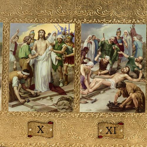 Vía Crucis 14 estaciones en 2 tablas madera 2