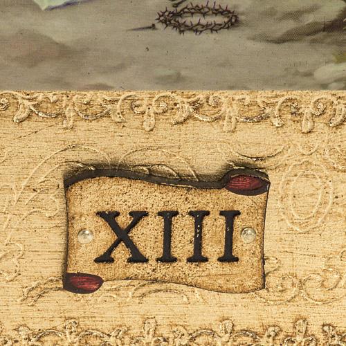 Vía Crucis 14 estaciones en 2 tablas madera 3