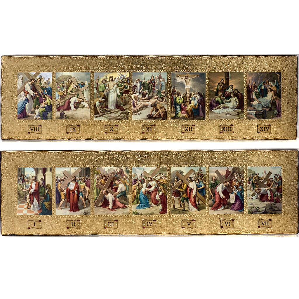 Via Crucis 14 stazioni in 2 tavole legno 4