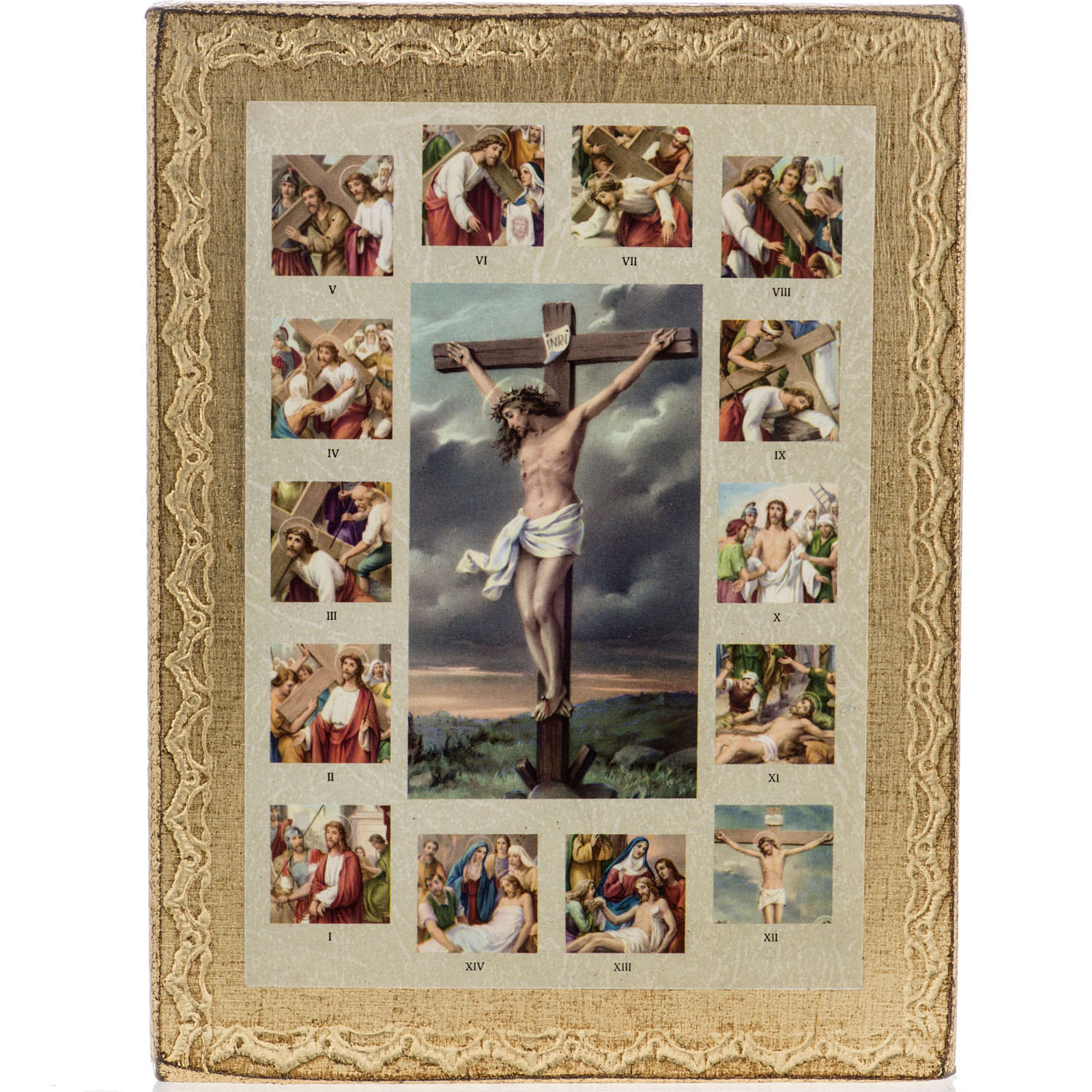 Quadro Via Sacra com Crucificação 4