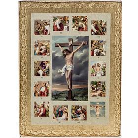 Quadro Via Sacra com Crucificação s1