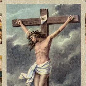 Quadro Via Sacra com Crucificação s2