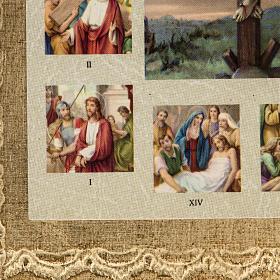 Quadro Via Sacra com Crucificação s3