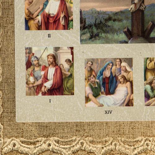 Quadro Via Sacra com Crucificação 3