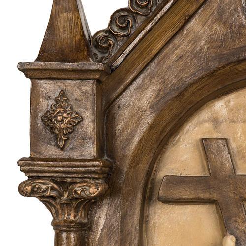 Via Crucis 15 stazioni 63x39 cm pasta di legno 3