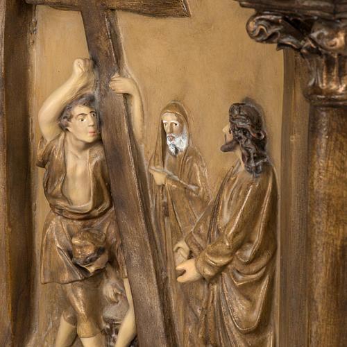 Via Crucis 15 stazioni 63x39 cm pasta di legno 7
