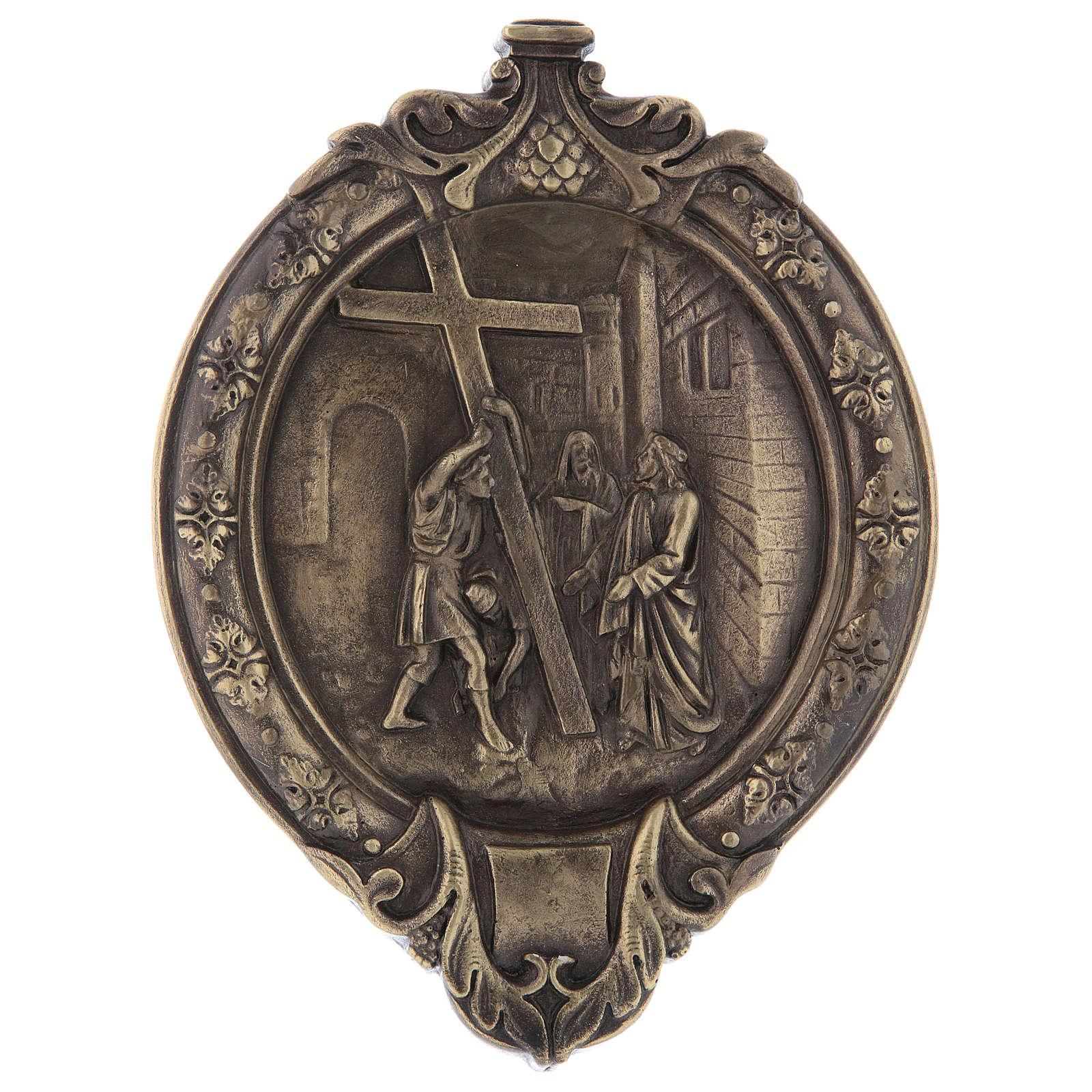Vía Crucis 14 estaciones pasta de madera y resina 4