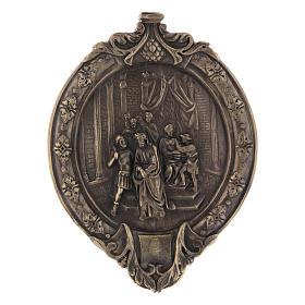 Vía Crucis 14 estaciones pasta de madera y resina s1