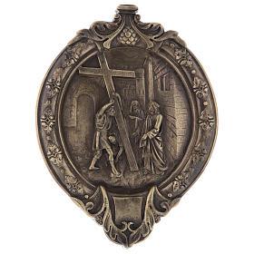 Vía Crucis 14 estaciones pasta de madera y resina s3
