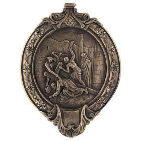 Vía Crucis 14 estaciones pasta de madera y resina s4