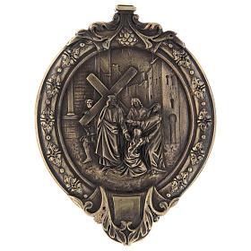 Vía Crucis 14 estaciones pasta de madera y resina s5