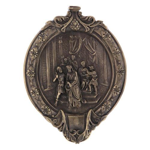 Vía Crucis 14 estaciones pasta de madera y resina 1