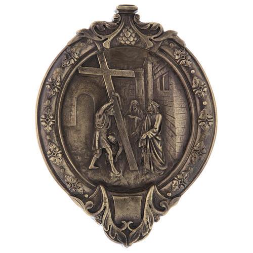 Vía Crucis 14 estaciones pasta de madera y resina 3
