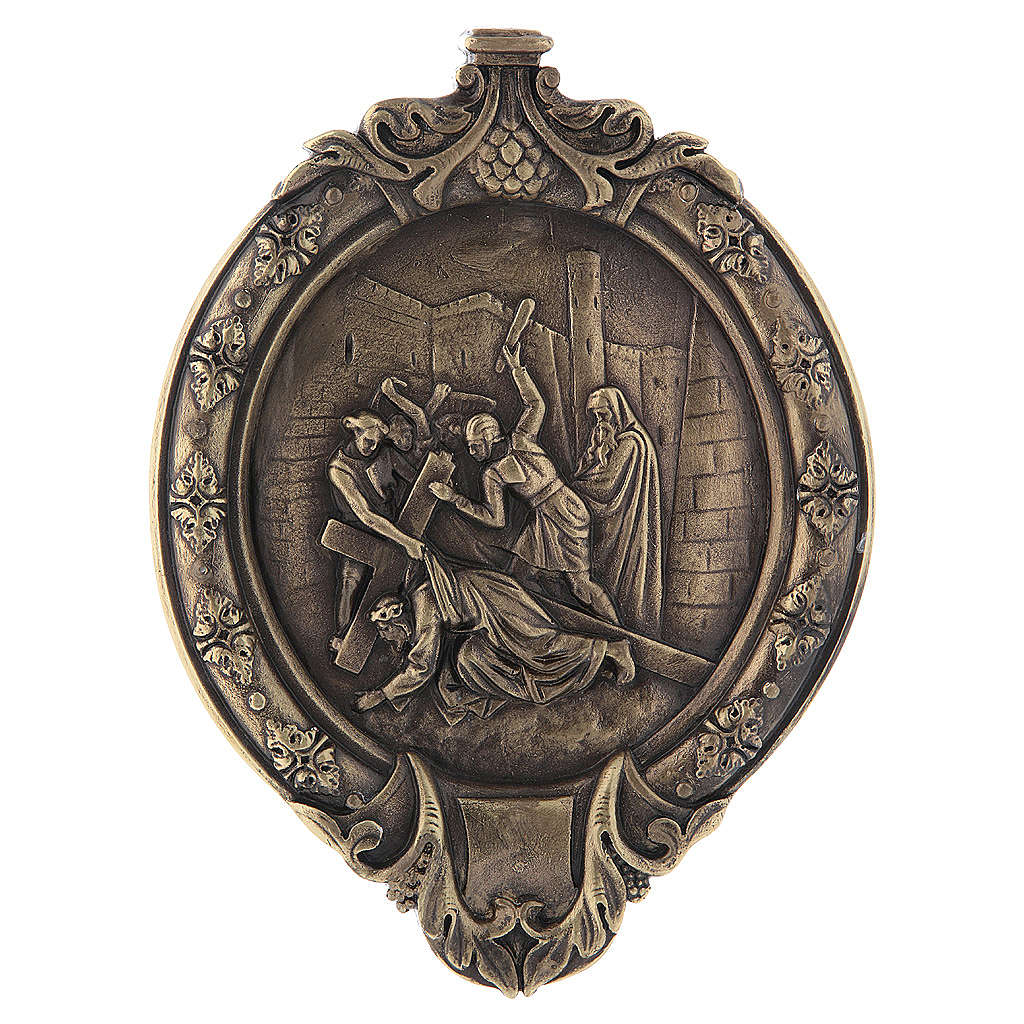 Via Crucis 15 stazioni pasta di legno e resina bagno bronzo 4