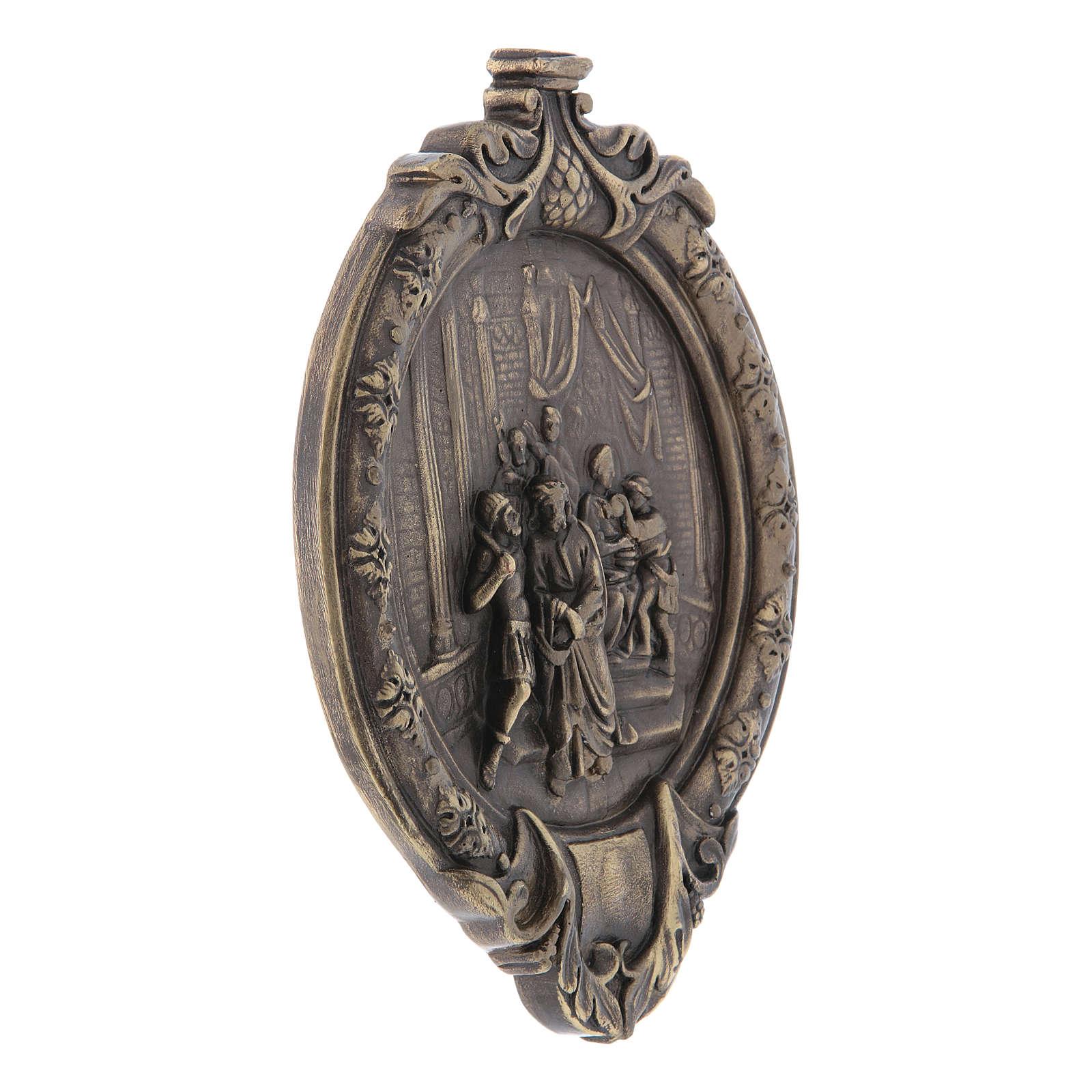 Via Crucis 14 stazioni pasta di legno e resina bagno bronzo 4