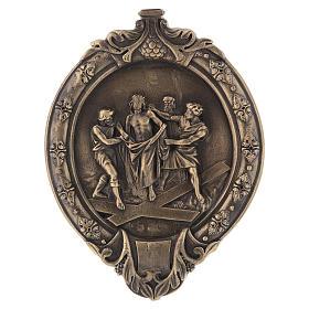 Via Crucis 15 stazioni pasta di legno e resina bagno bronzo s11