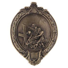 Via Crucis 14 stazioni pasta di legno e resina bagno bronzo s8