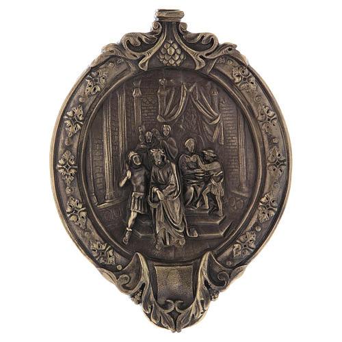 Via Crucis 15 stazioni pasta di legno e resina bagno bronzo 1