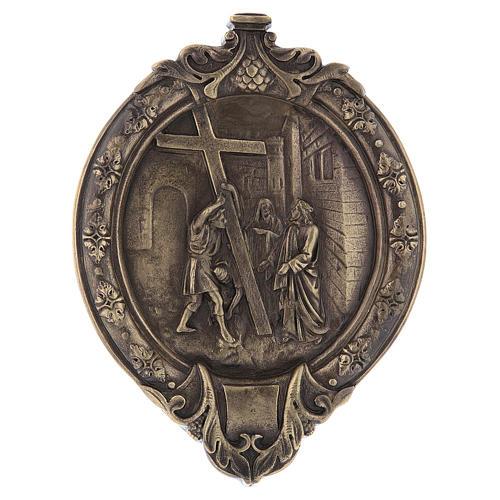 Via Crucis 15 stazioni pasta di legno e resina bagno bronzo 3
