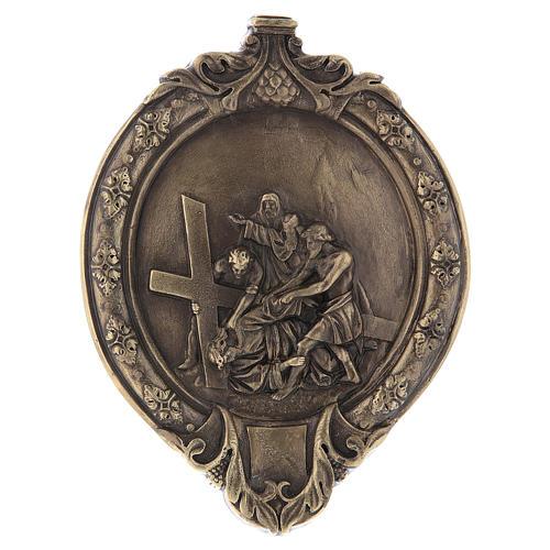 Via Crucis 15 stazioni pasta di legno e resina bagno bronzo 8