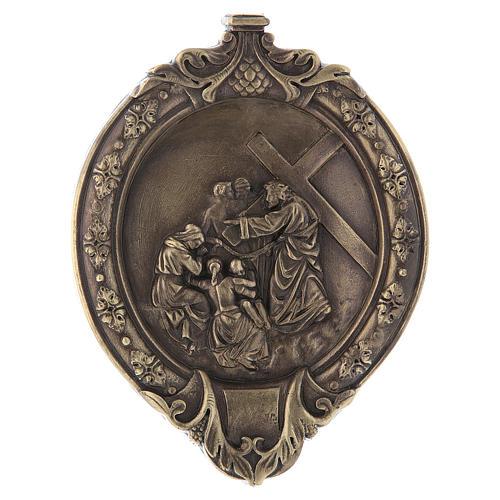 Via Crucis 15 stazioni pasta di legno e resina bagno bronzo 9