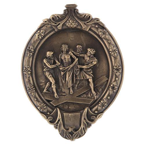 Via Crucis 15 stazioni pasta di legno e resina bagno bronzo 11