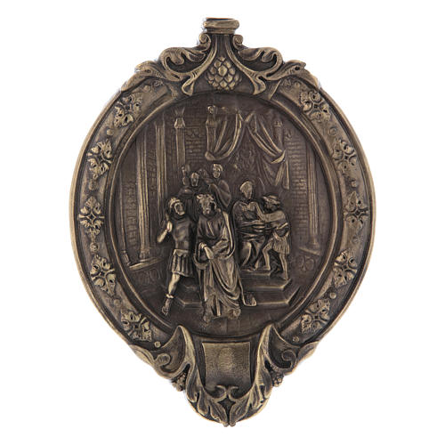 Via Crucis 14 stazioni pasta di legno e resina bagno bronzo 1