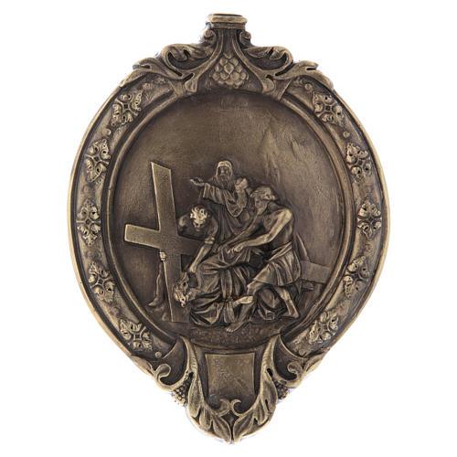 Via Crucis 14 stazioni pasta di legno e resina bagno bronzo 8
