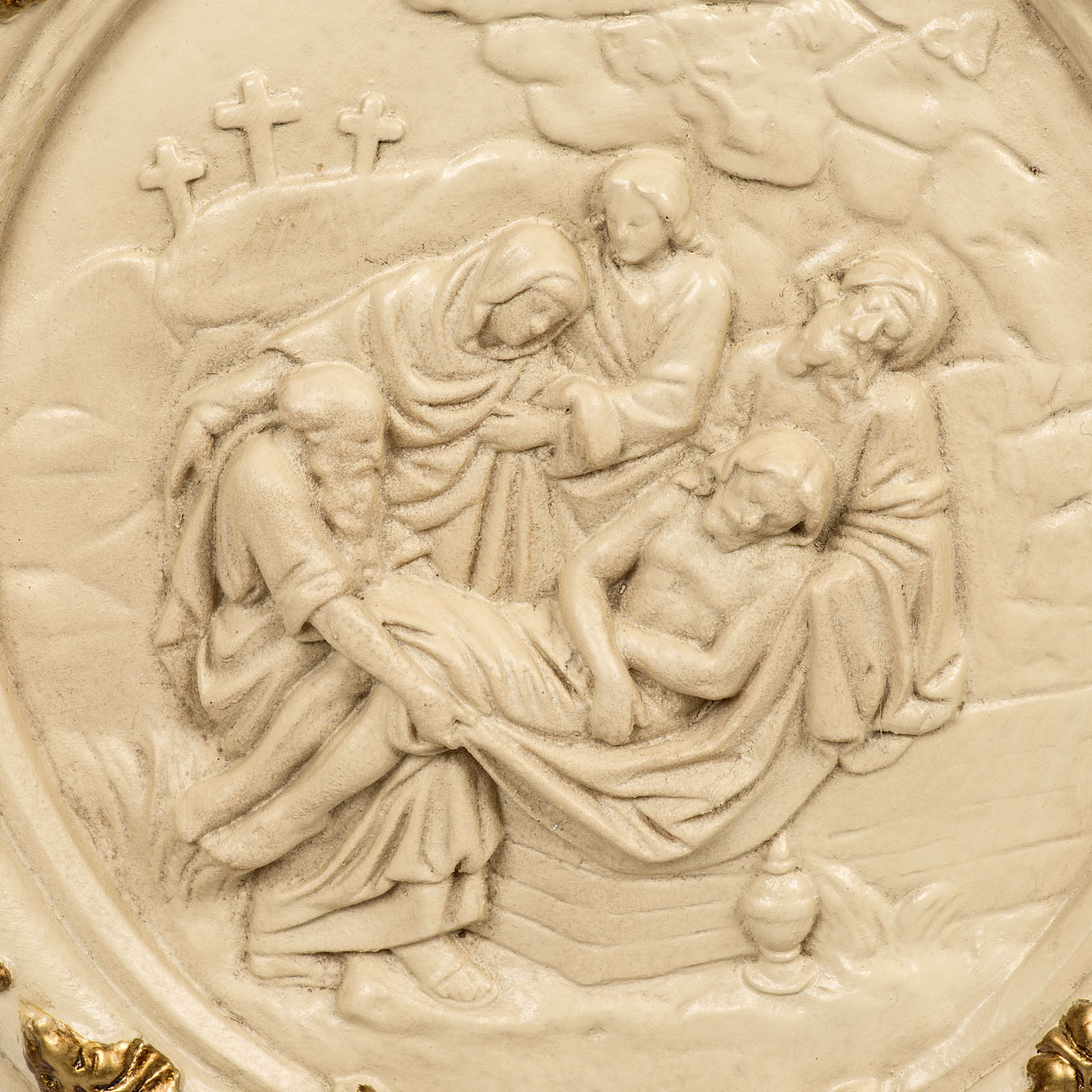 15 Stations of the Cross in wood paste and ivory resin 4