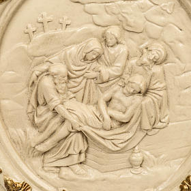 15 Stations of the Cross in wood paste and ivory resin s2