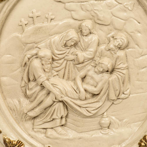 15 Stations of the Cross in wood paste and ivory resin 2