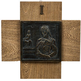15 Stations of the cross wood paste with cross s1