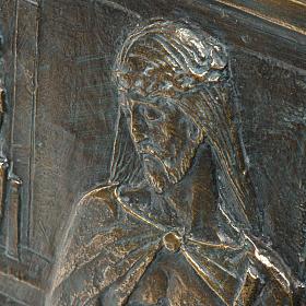 Via Crucis 15 stazioni pasta di legno su croce s5