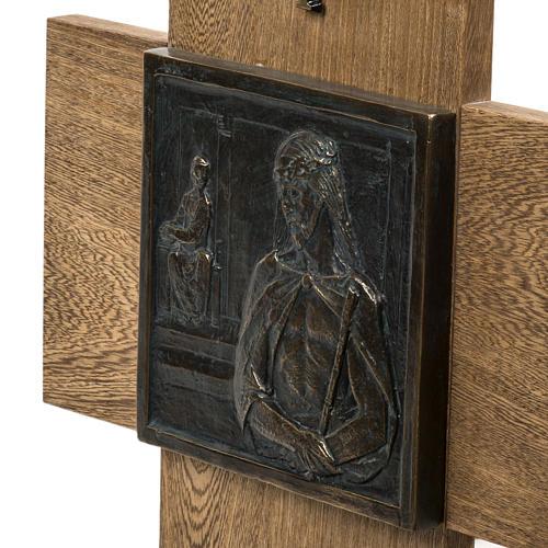 Via Crucis 15 stazioni pasta di legno su croce 4