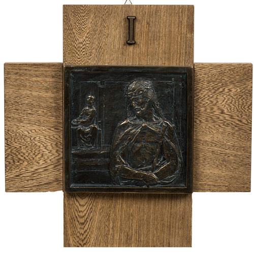 15 Stations of the cross in wood paste 1