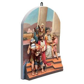 Vía Crucis 15 estaciones clásica en relieve pasta de madera s2