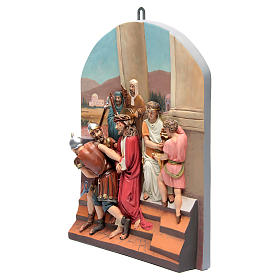 Vía Crucis 15 estaciones clásica en relieve pasta de madera s3