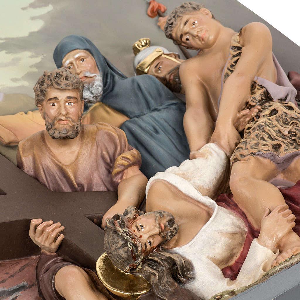 Via Crucis 15 stazioni rilievo classica pasta di legno 4