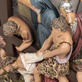 Via Crucis 15 stazioni rilievo classica pasta di legno s3