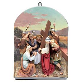 Via Crucis 15 stazioni rilievo classica pasta di legno s9