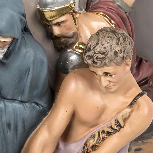 Via Crucis 15 stazioni rilievo classica pasta di legno 5