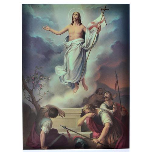 Vía Crucis 15 estaciones estampa sobre madera 12
